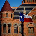 Texas Flag at Old Red Courthouse